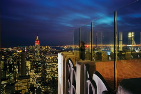 Top of the Rock View at Night