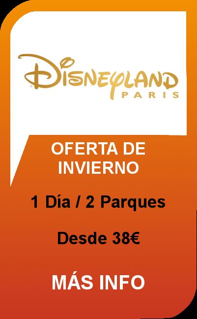 Disneyland® Paris - 1 Día / 2 Parques - Oferta de Invierno