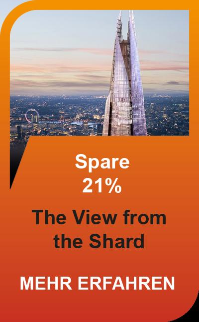 Londons Skyline zu Ihren Füßen - perfekter 360-Grad Blick