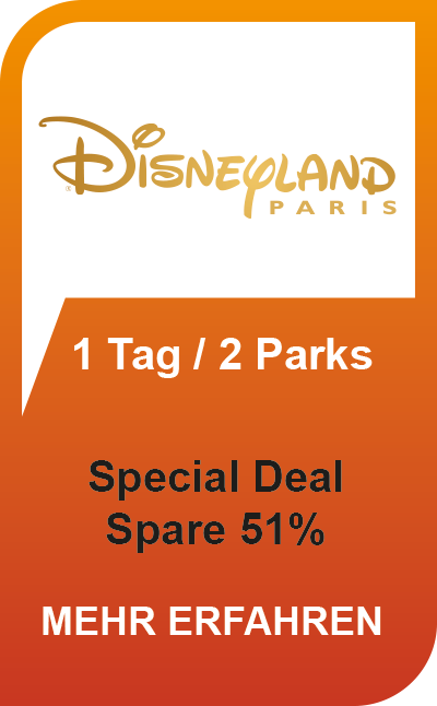 Disneyland Paris Special Deal 51 % Ersparnis