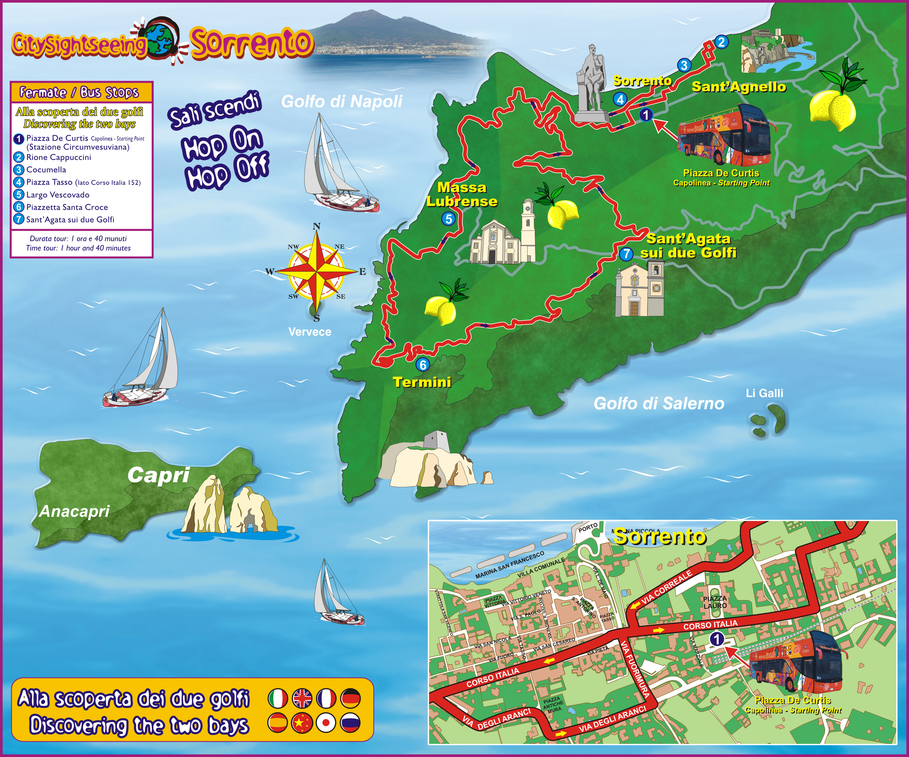 Sorrento City Sightseeing Offers Discounts Cheap Tickets Buy