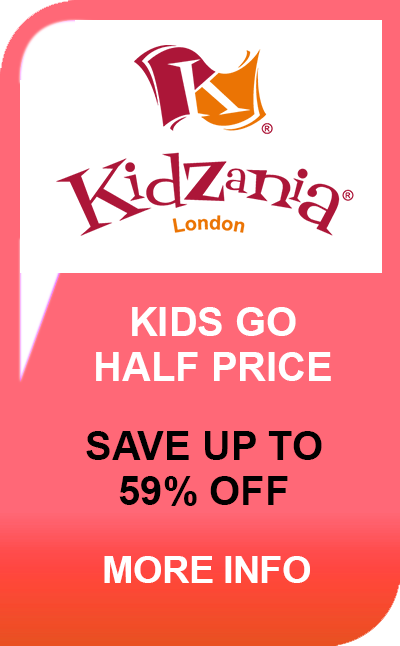 365Tickets 20th Birthday - KidZania Kids Go Half Price