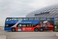 Fanbus des FC Bayern München | kombinierte Stadtrundfahrt für Fußballfans | Gray Line Sightseeing | 365Tickets Germany