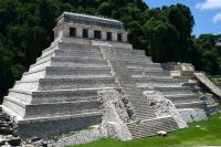 Palenque Aequeological Zone - Well preserved temple