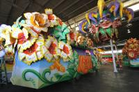 Mardi Gras Float with Jesters