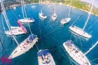 Group of Sailing yachts