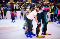 Dubai Ice Rink - Father and kids
