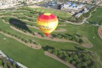 Vegas Balloon over a golf course