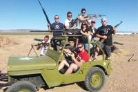 Jeep photo with guns