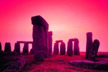 Stonehenge world Heritage site at sunset