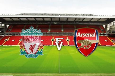 Liverpool v Arsenal crests