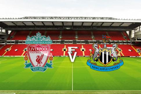 Liverpool v Newcastle crests