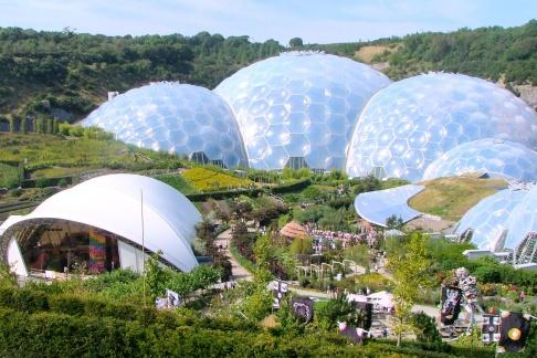 The Biomes at the Eden Project Cornwall