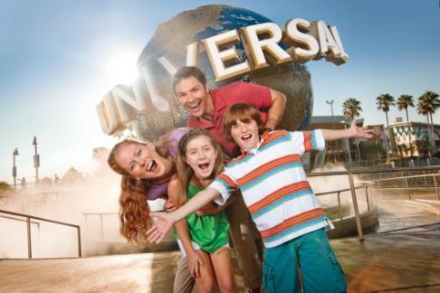 Universal Orlando Globe Family