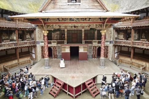 shakespeare's globe exhibition stage