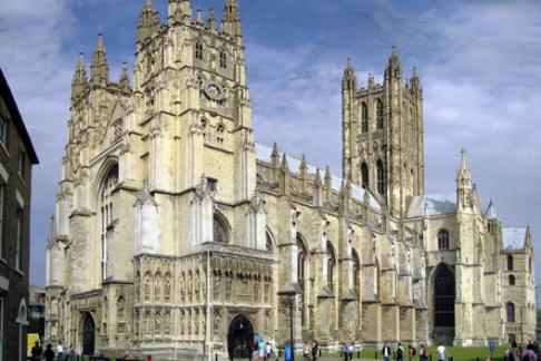 Canterbury cathedral outside