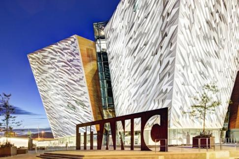 Image of Titanic Belfast and SS Nomadic