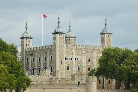 flag flying high over the tower of London