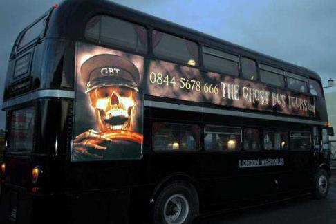 The Ghost bus tour side view