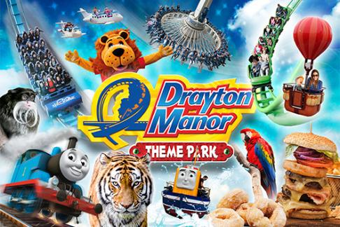 Amusement parks Drayton Manor - 1 Day Ticket + Burger Kitchen Meal Deal (MSO)