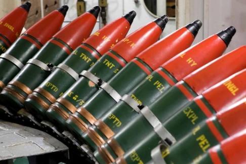 HMS Belfast shells