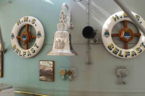HMS Belfast ships bell