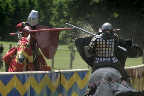 Jousting at Warwick Castle