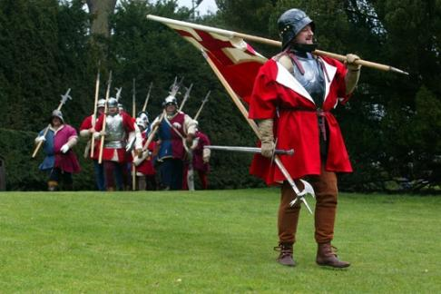 Warwick Castle show and enactments