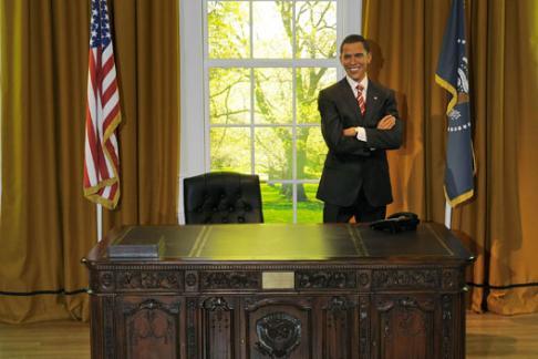 President Obama at Madame Tussauds London