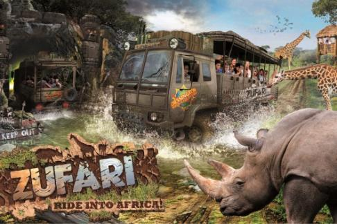 New ride Zufari at Chessington World of adventures Theme Park, get tickets here