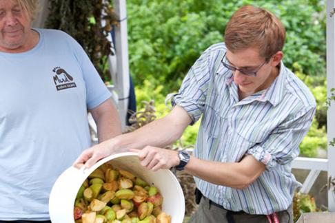 Autumn Apple Pressing at The Eden Project