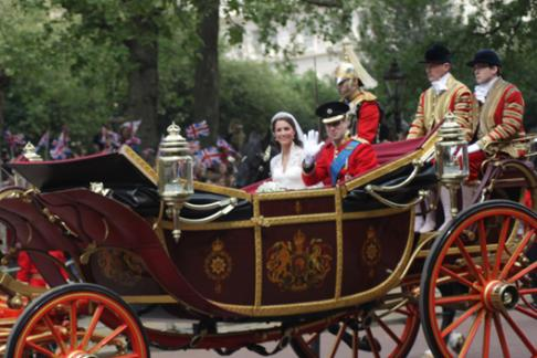 Royal Carriage for wedding of Kate and William