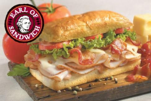 Signature sandwich at Earl of Sandwich