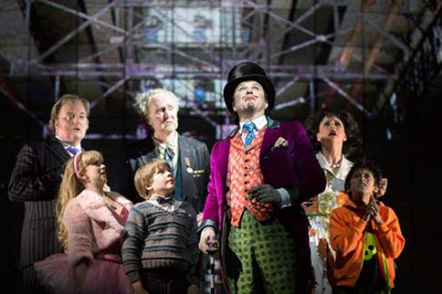 Willy Wonka & the Bucket Family in Charlie and The Chocolate Factory the Musical