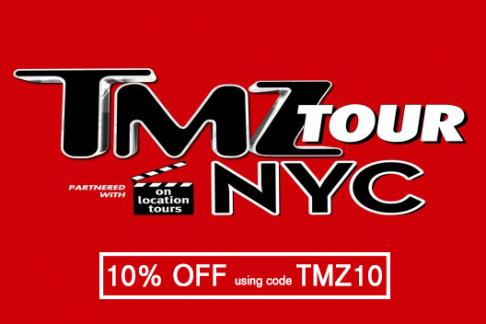 TMZ Tour Logo with 10% off