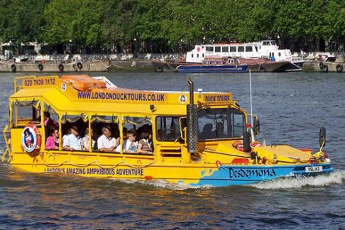 Duck Tours on water