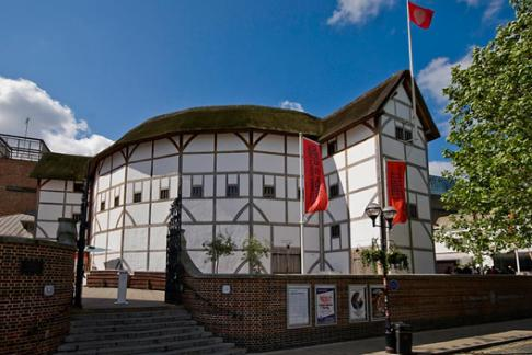 Shakespeare Globe theatre outside view