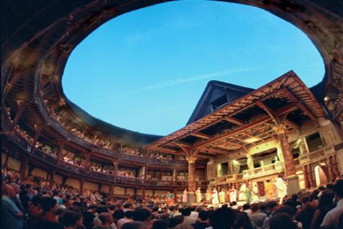 Shakespeare Globe theatre auditorium
