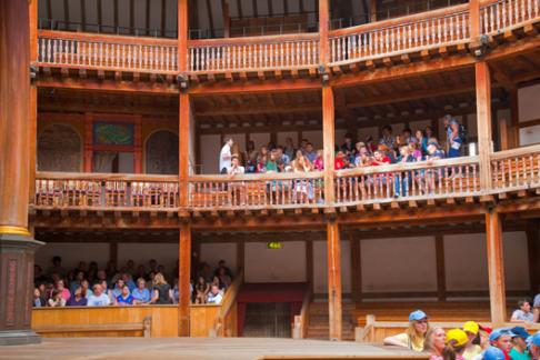 Shakespeare Globe theatre interior