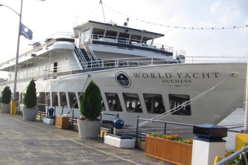 World Yacht moored
