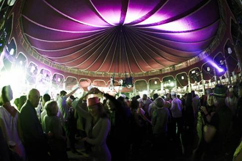 Party in the Speigel Tent at the Branchage Film Festival Jersey