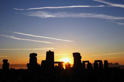 Stonehenge at sunrise on the solstice