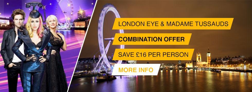London Eye + Madame Tussauds Tickets