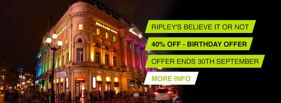 Ripley's Believe It Or Not £14 Off