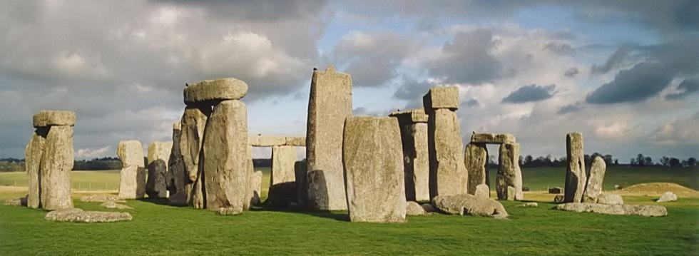 Stonehenge stone circle in the rain
